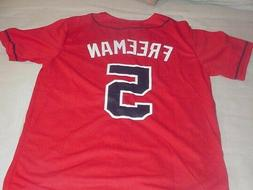 Freddie Freeman SGA Red Jersey Atlanta Braves-Youth XL Fits
