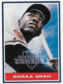 Hank Aaron Atlanta Braves Promo Baseball Card 5 x 7 Major Le