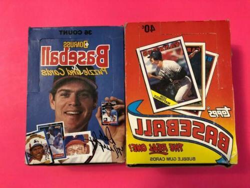 1988 donruss and topps baseball wax box