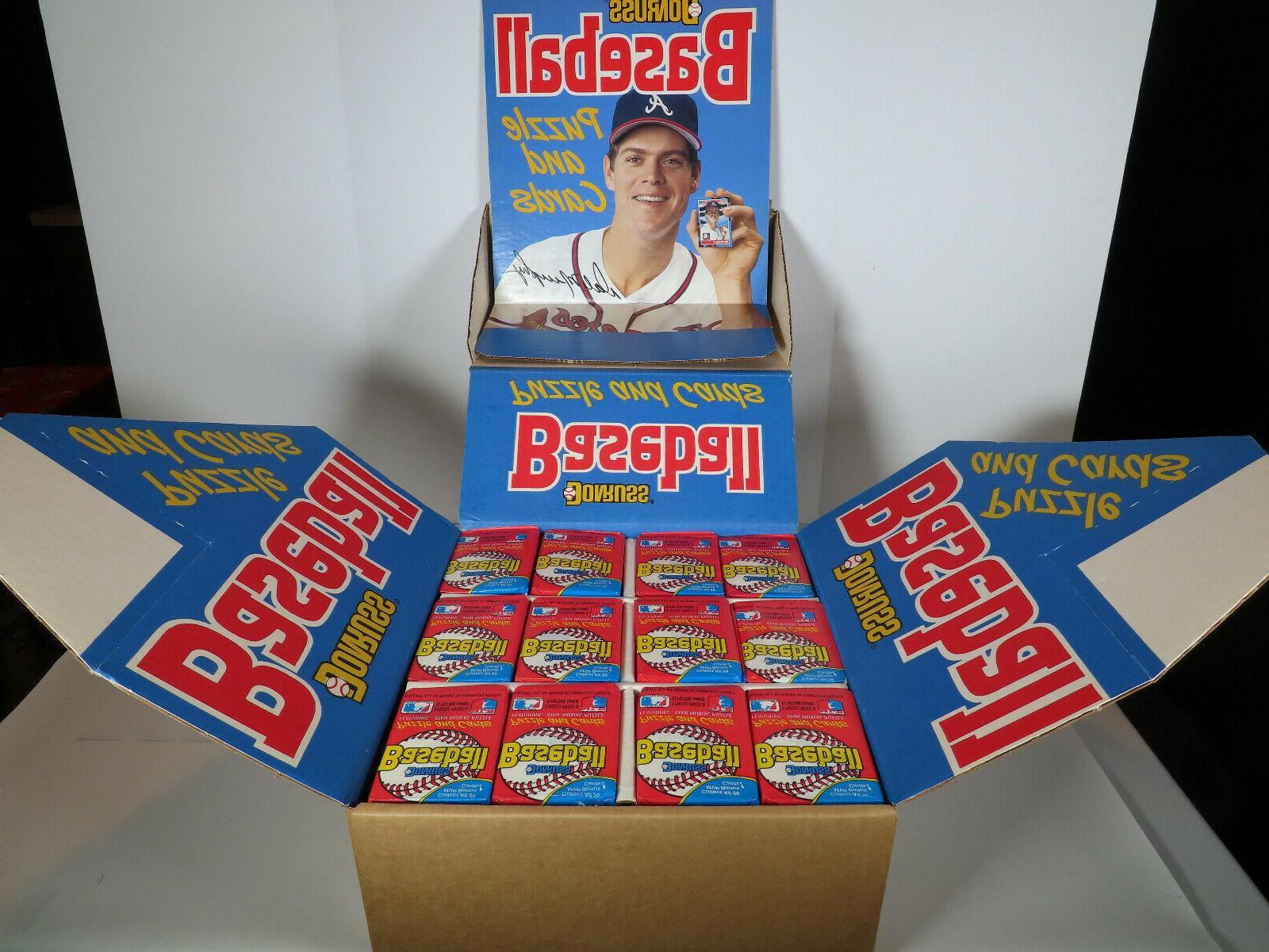 1988 donruss baseball counter display factory case