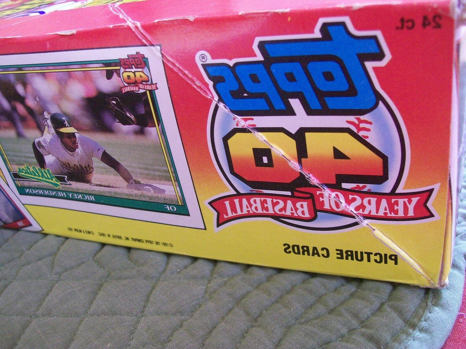 1991 Topps Basball Pack Box Count -
