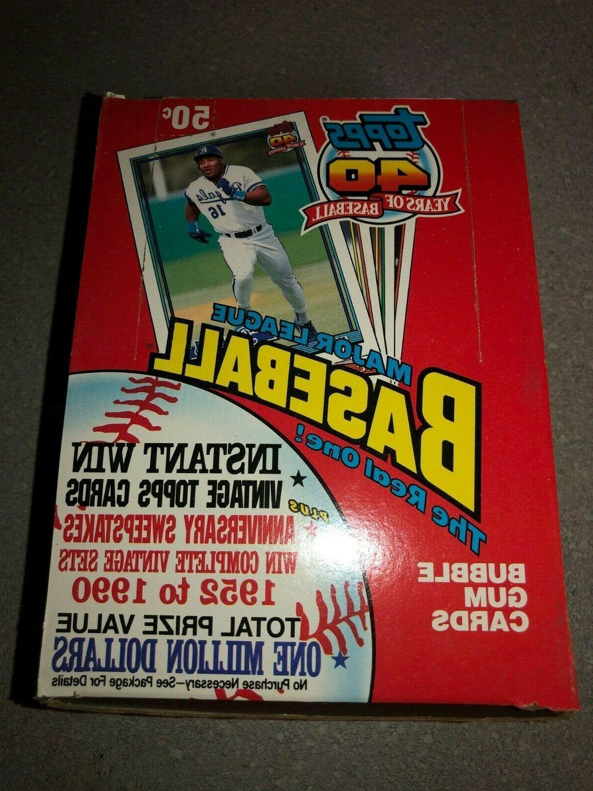 1991 topps baseball box of 36 wax