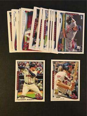 2014 topps atlanta braves team set