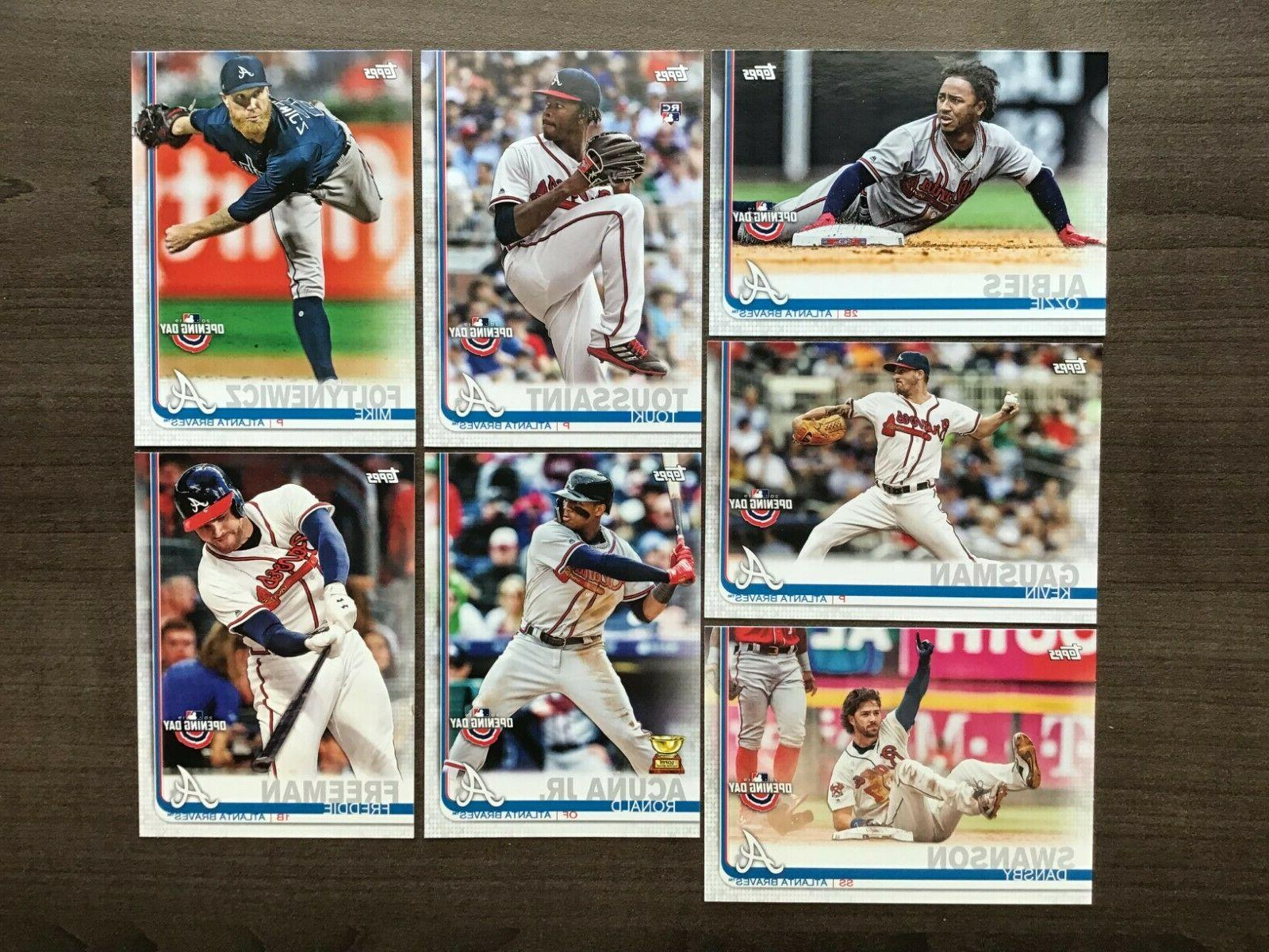 2019 topps opening day base team sets