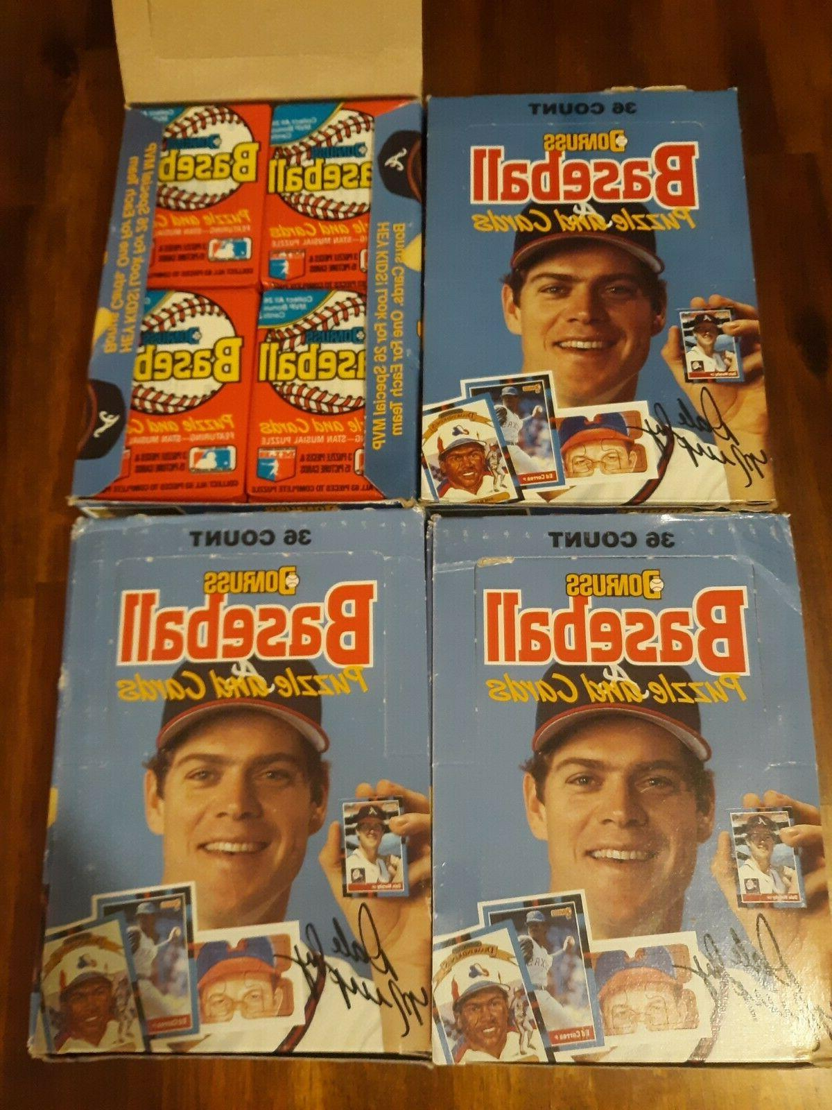4 1988 donruss baseball boxes 36 unopened