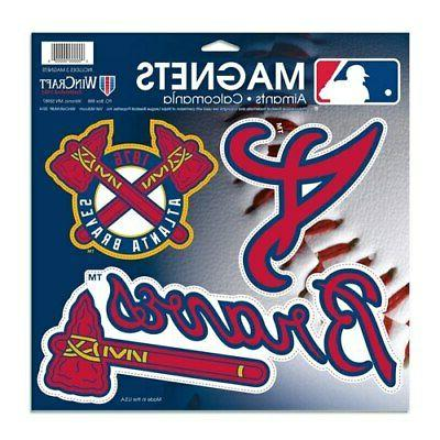 atlanta braves 3 pack car magnets