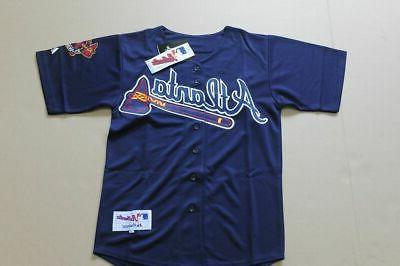 atlanta braves alternate navy jersey w tags