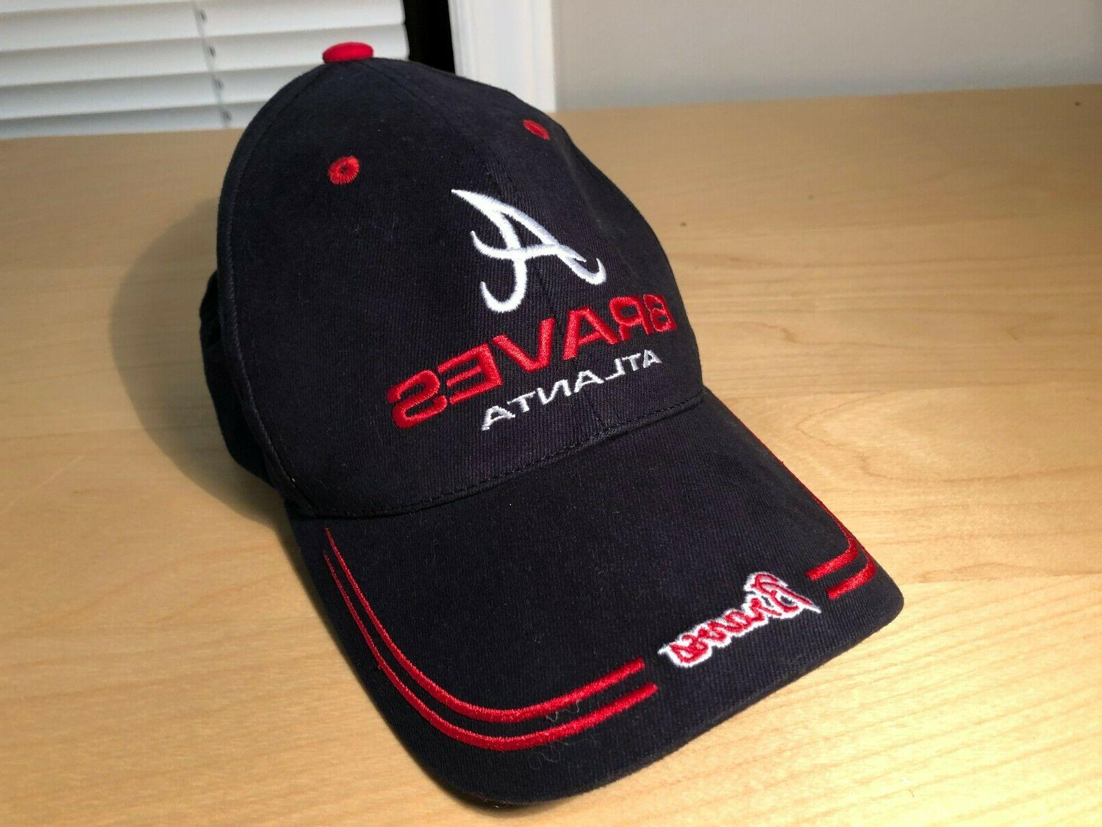 atlanta braves baseball hat adjustable cap navy