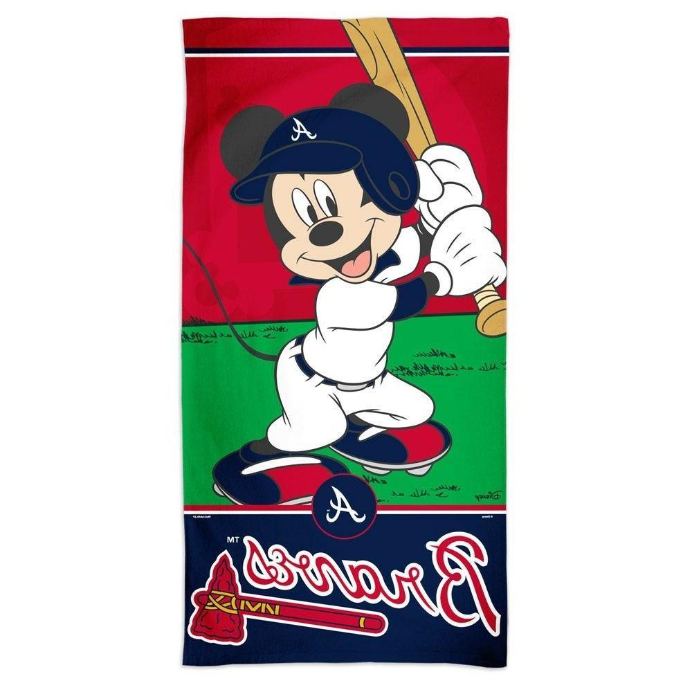 atlanta braves baseball mickey mouse 30 x60