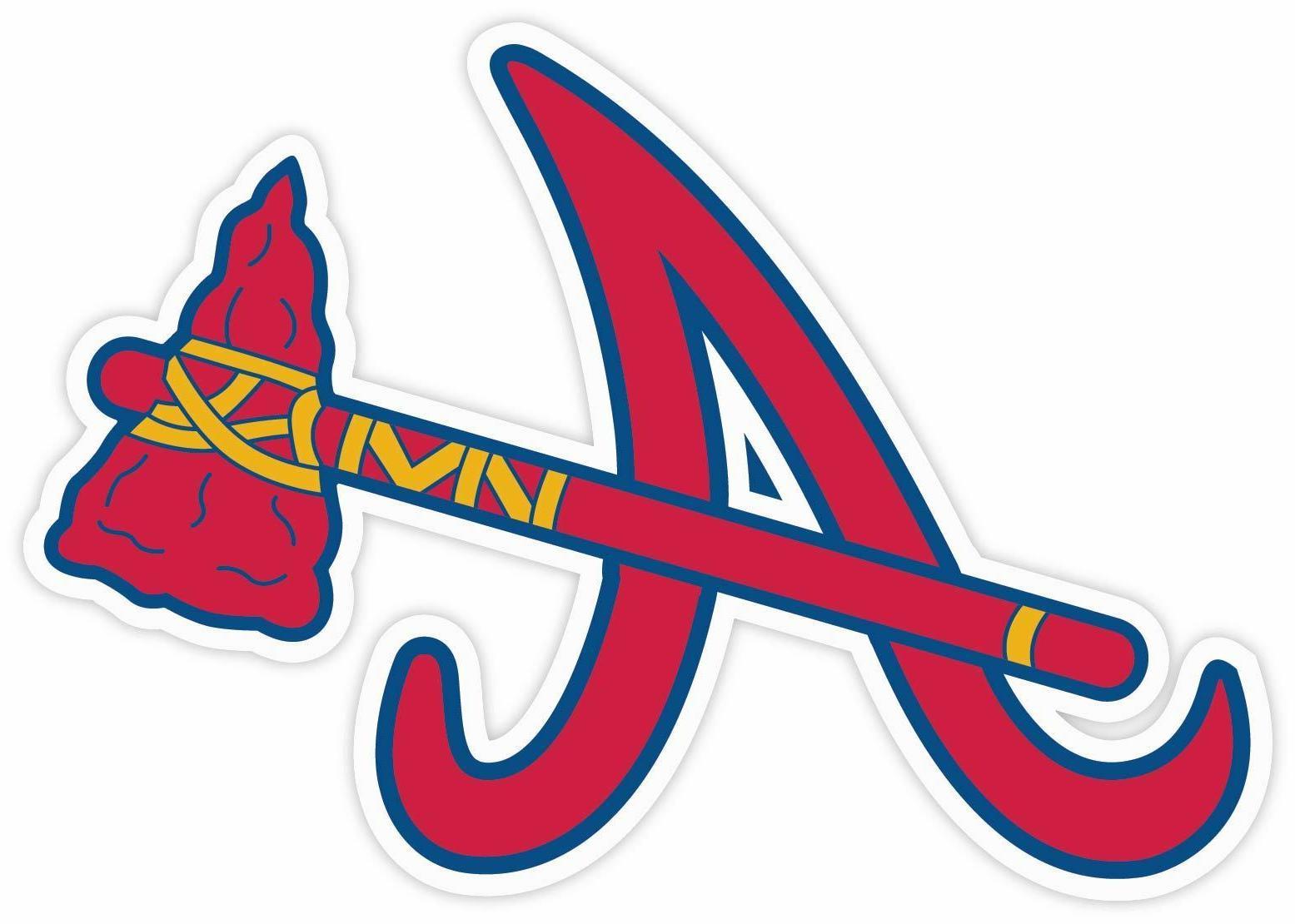atlanta braves baseball sticker decal for cornhole