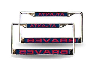 atlanta braves blue mlb set of 2