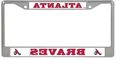 atlanta braves bold design chrome frame metal