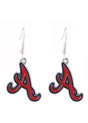 atlanta braves dangle earrings a