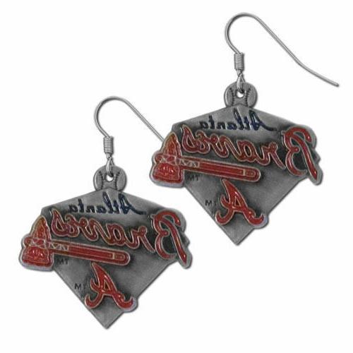 Atlanta Braves Dangle Earrings Licensed MLB Baseball Jewelry