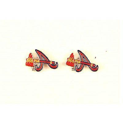 atlanta braves dangle earrings