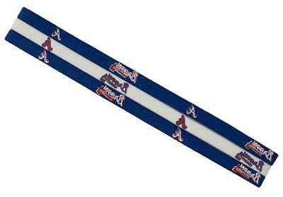 atlanta braves elastic headband 3 pack new