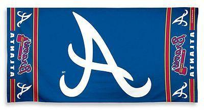 atlanta braves fiber beach towel new mlb