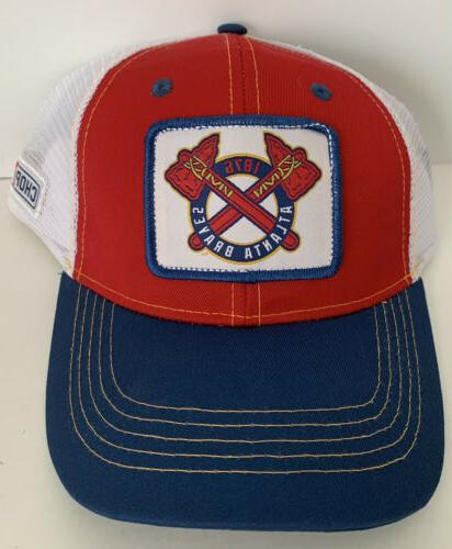 atlanta braves hat ball cap chop on