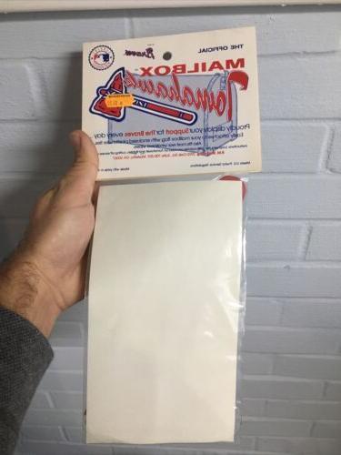 Atlanta Braves Mailbox Sealed Baseball
