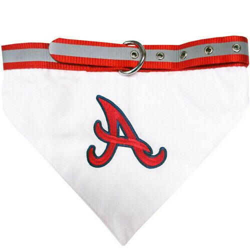 atlanta braves mlb dog collar bandana pick