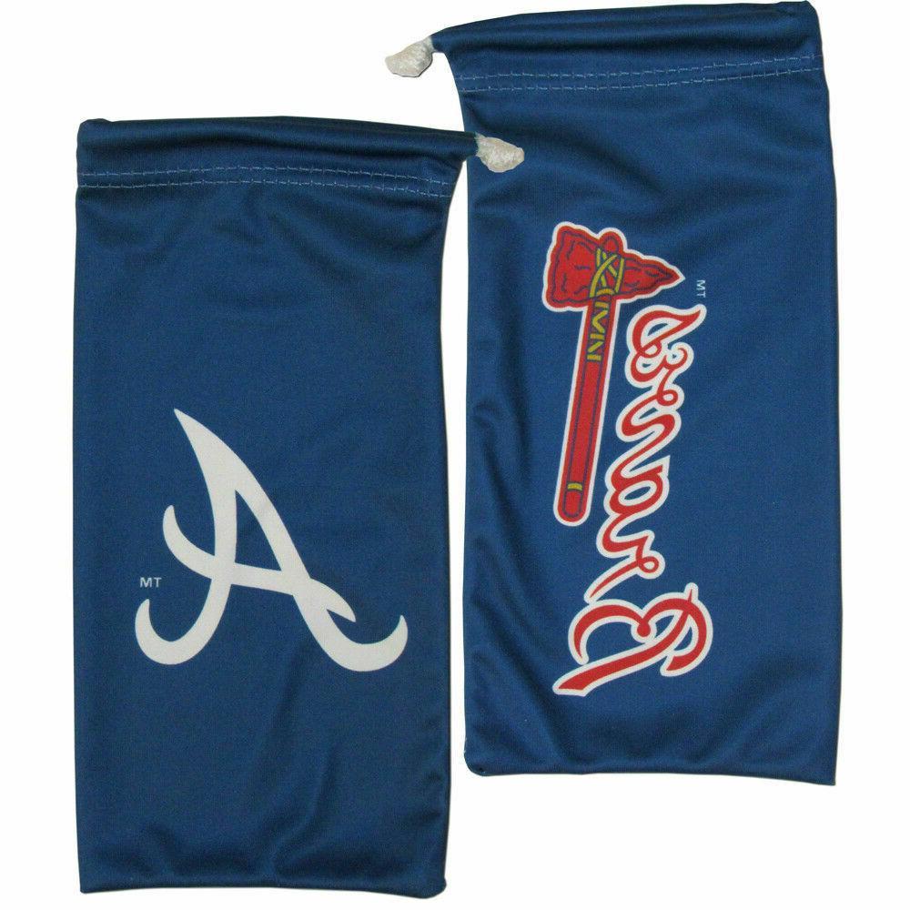 Atlanta Braves Official MLB Microfiber Glasses Bag by Siskiy