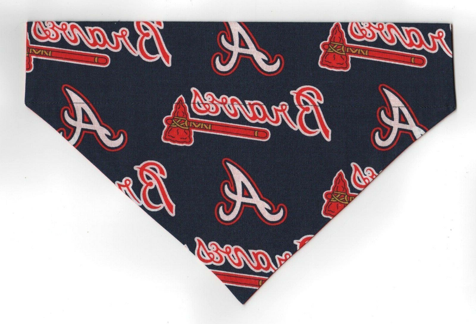 atlanta braves mlb pet dog bandana scarf