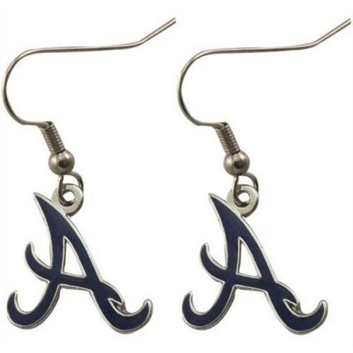 atlanta braves mlb silver dangle earrings j