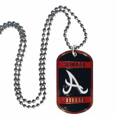 Atlanta Braves Official MLB Tag Necklace by Siskiyou 450495