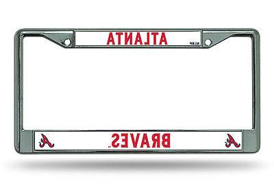 atlanta braves new design metal chrome license