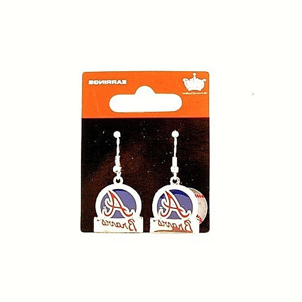 atlanta braves pair of dangle earrings