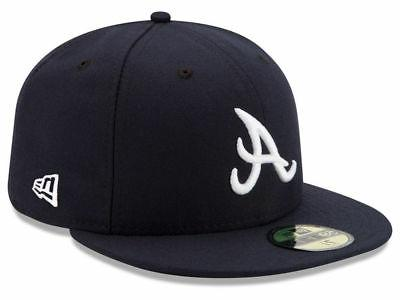atlanta braves road 59fifty fitted hat dark
