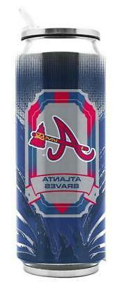 atlanta braves stainless steel 16 9oz thermo