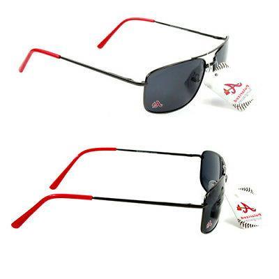 atlanta braves sunglasses polarized gun metal mlb