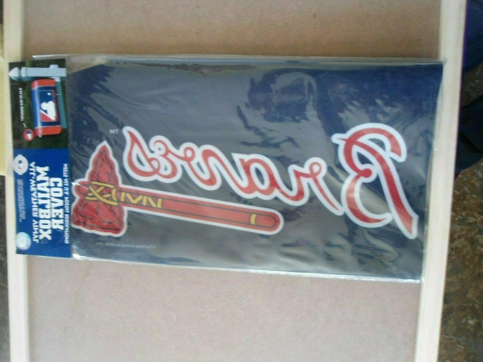 Atlanta Braves Vinyl Mailbox Cover MLB Baseball