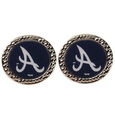 atlanta braves women s round post earrings