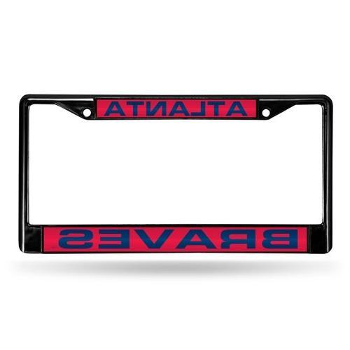 black laser chrome license plate