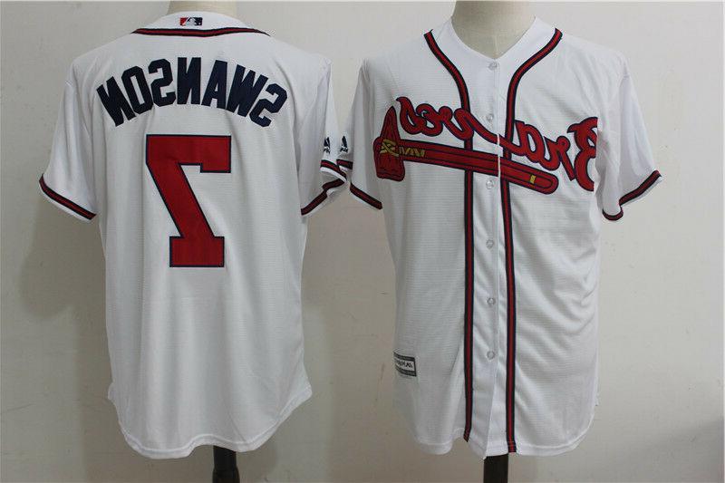 dansby swanson atlanta braves stitched baseball jersey