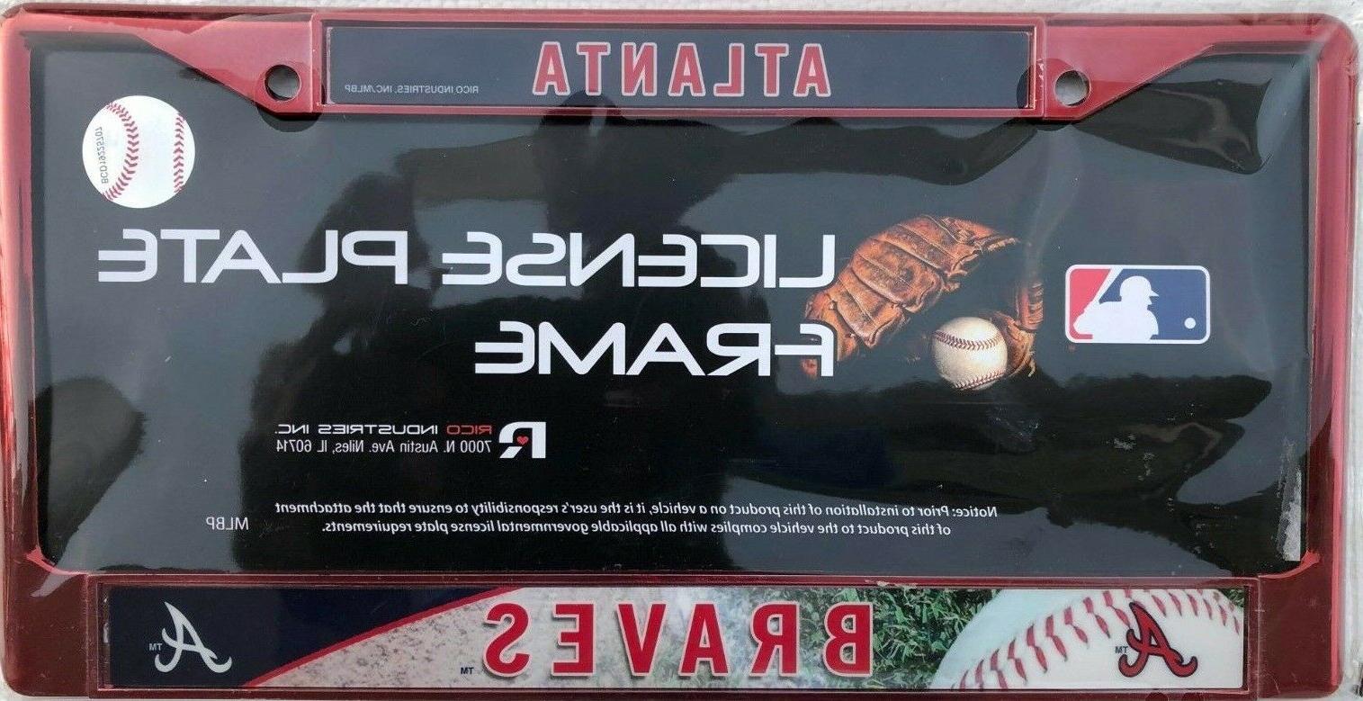 industries atlanta braves license plate mlb new