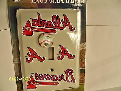 MLB licensed baseball switch plate cover