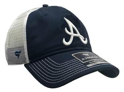 mlb atlanta braves baseball cap logo mesh