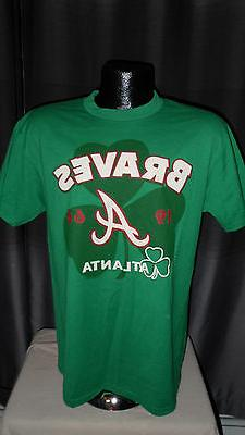 MLB Atlanta Braves Baseball Celtic Green Clover T Shirt Men