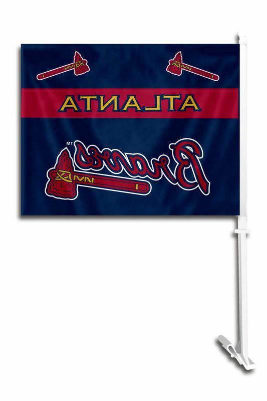 mlb atlanta braves car flag