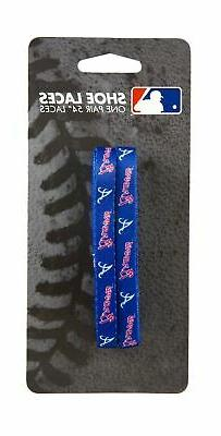 MLB Atlanta Braves 54-Inch LaceUps Shoe Laces
