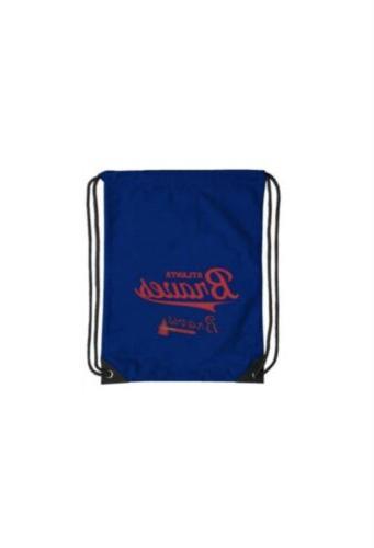 nwt atlanta braves drawstring backpack bag blue