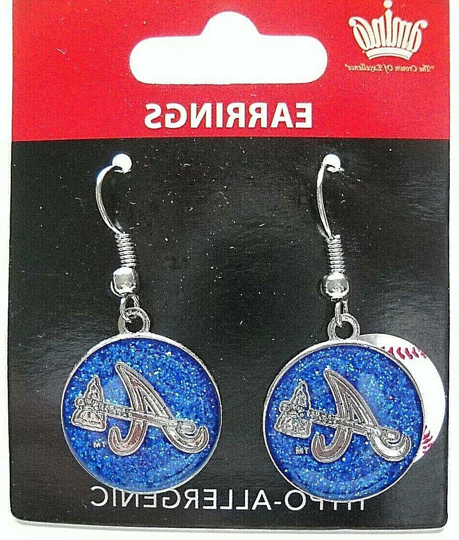 one pair of atlanta braves glitter blue