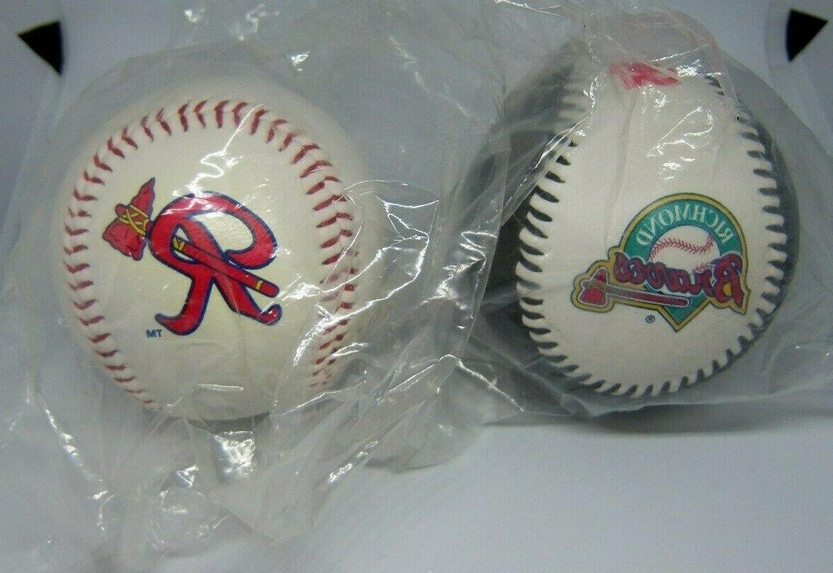 richmond atlanta braves promotional baseballs 2 different