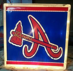 Lighted Atlanta Braves  Glass Block Light~ Home Decor~Gift~L