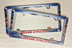 Lot of 2 Atlanta Braves Car Truck License Plate Frames NEW -