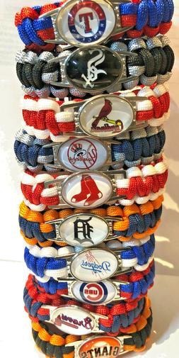 Major League Baseball MLB Team Logo Paracord Bracelet Wristb
