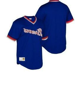 Mitchell & Ness Atlanta Braves Baseball Jersey New Mens Size